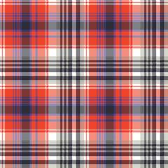 Red check pixel plaid seamless pattern