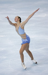 U.S. skater Kimmie Meissner performs during the Ladies Short Program event in the Bompard Trophy event at Bercy