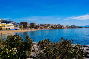 Mar lago azul