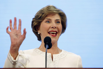 First lady Laura Bush speaks during the opening session of the 2008 Republican National Convention in St. Paul