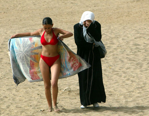 TO GO WITH FEATURE STORY ALGERIA BEACHES.