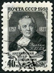 USSR - 1958: shows William Blake (1757-1827), poet, painter