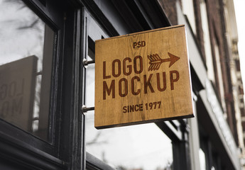 Store Brand Sign Mockup 6