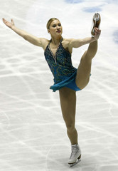 Joannie Rochette of Canada performs during the women's free program at the ISU World Team Trophy Figure Skating in Tokyo