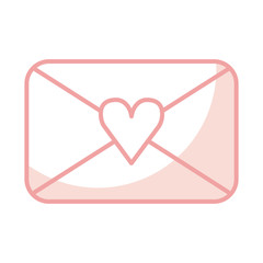 envelope with heart love romantic icon vector illustration design