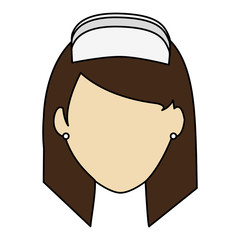 colorful realistic image faceless female nurse front view vector illustration