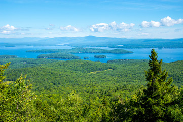 Idyllic Lake Winnipesaukee, Maine, USA