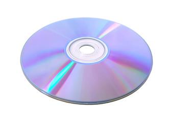 Disk DVD CD on white background.