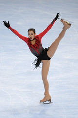 Asada of Japan performs during the ladies free skating program in the Bompard Trophy event at Bercy in Paris