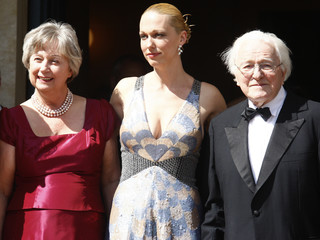 Wagner family arrive for the opening of this year's Bayreuth Wagner opera festival  in Bayreuth
