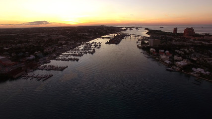 Aerial View of Bahamas Port