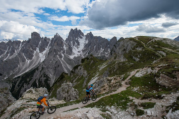 mountainbike trail in the dolomites