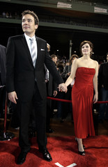 Jimmy Fallon and Drew Barrymore arrive for the premiere of Fever Pitch.