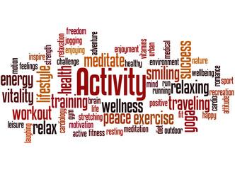 Activity, word cloud concept 5