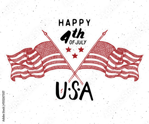Happy independence day fourth of july vintage greeting card wirh happy independence day fourth of july vintage greeting card wirh usa flags united m4hsunfo