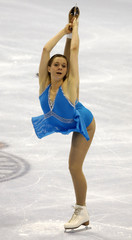 Hughes performs during the ladies long program at the US Figure Skating Championships in St Louis