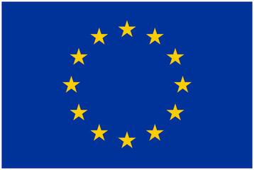 Europa Flagge - Vektorgrafik