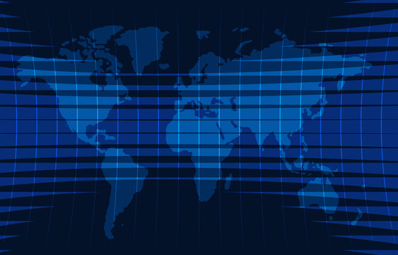 Background for news with an abstract map of the world.