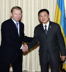THAI PM GREETS UKRAINIAN PRESIDENT IN BANGKOK.