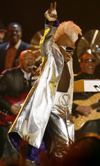 Funk music pioneer Sly Stone performs at Grammy Awards in Los Angeles