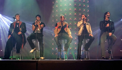 BACK STREET BOYS PERFORM DURING AMIGO MUSIC AWARDS CEREMONY.