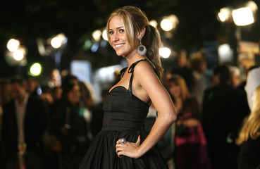 Kristin Cavallari poses at the premiere of the movie Marley & Me at the Mann Village theatre in Westwood