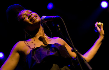 Singer Erykah Badu performs during the 42nd Montreux Jazz Festival in Montreux