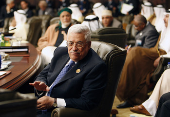 Palestinian President Mahmoud Abbas attends the opening of the two-day Arab Summit in Damascus