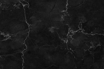 Foto auf Leinwand Steine Black marble patterned texture background. marble of Thailand, abstract natural marble black and white for design.