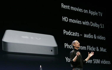 Apple CEO Steve Jobs speaks during the Macworld Convention and Expo in San Francisco