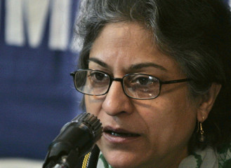 Human Rights Commission of Pakistan (HRCP) chairwoman, Asma Jahangir, speaks during a news conference in Islamabad