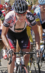 Evans of Australia cycles during stage ten of the Tour of Spain