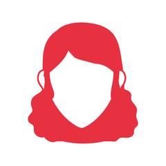 Woman faceless head icon vector illustration graphic design