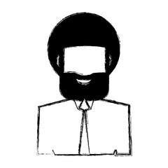 Man faceless profile icon vector illustration graphic design