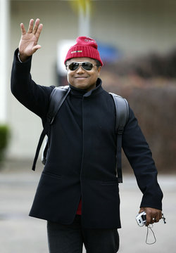 Randy Jackson, brother of pop icon Michael Jackson, waves to reporters outside the Marian Medical ...