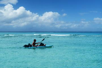 Sea kayaking in Guam