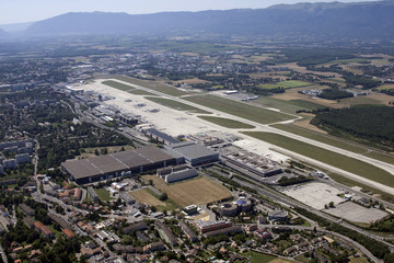 The Cointrin Airport is seen in Geneva