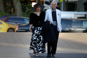 A couple arrives to attend the Chaplin Awards at the Film Society of Lincoln Center in the Manhattan borough of New York