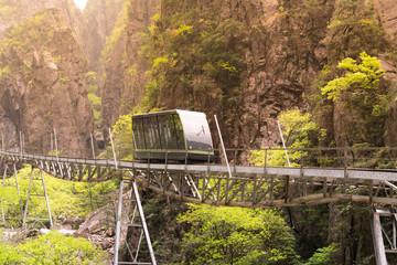 tram on the way to peak of Huangshan mountain, Anhui, China