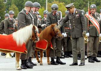 INAUGURATION CEREMONY FOR TWO AUSTRIAN ARMY PONIES.