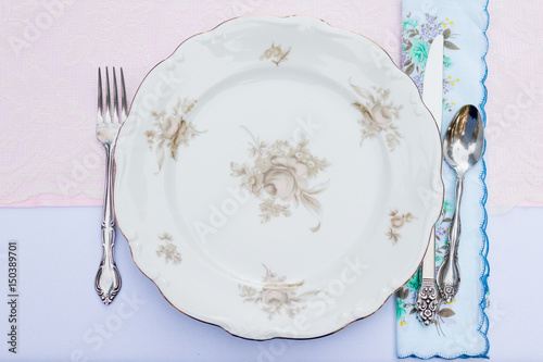 Antique Wedding Reception Plates Stock Photo And Royalty Free