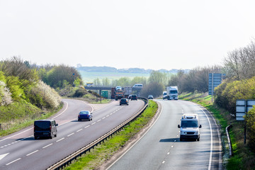 Day view background of UK Motorway Road