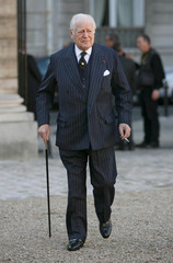 Former French Minister, writer and member of the French academy Maurice Druon arrives at ceremony in Paris