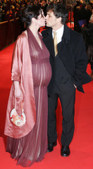 German actress Woerner and her partner Seeliger arrive for the opening of the 56th Berlinale International Film Festival in Berlin