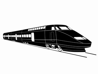 illustration of train. vector drawing