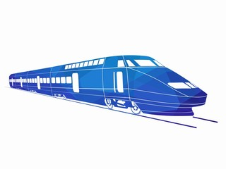 illustration of train. vector drawing