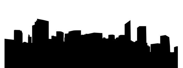 silhouette of big city