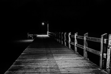 Glenorchy Wharf Empty at Night