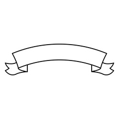 ribbon banner decoration ornament element line vector illustration