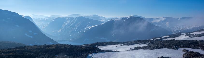 Tour durch Norwegen mit dem Wohnmobil - Blick vom Aussichtspunkt Dalsnibba